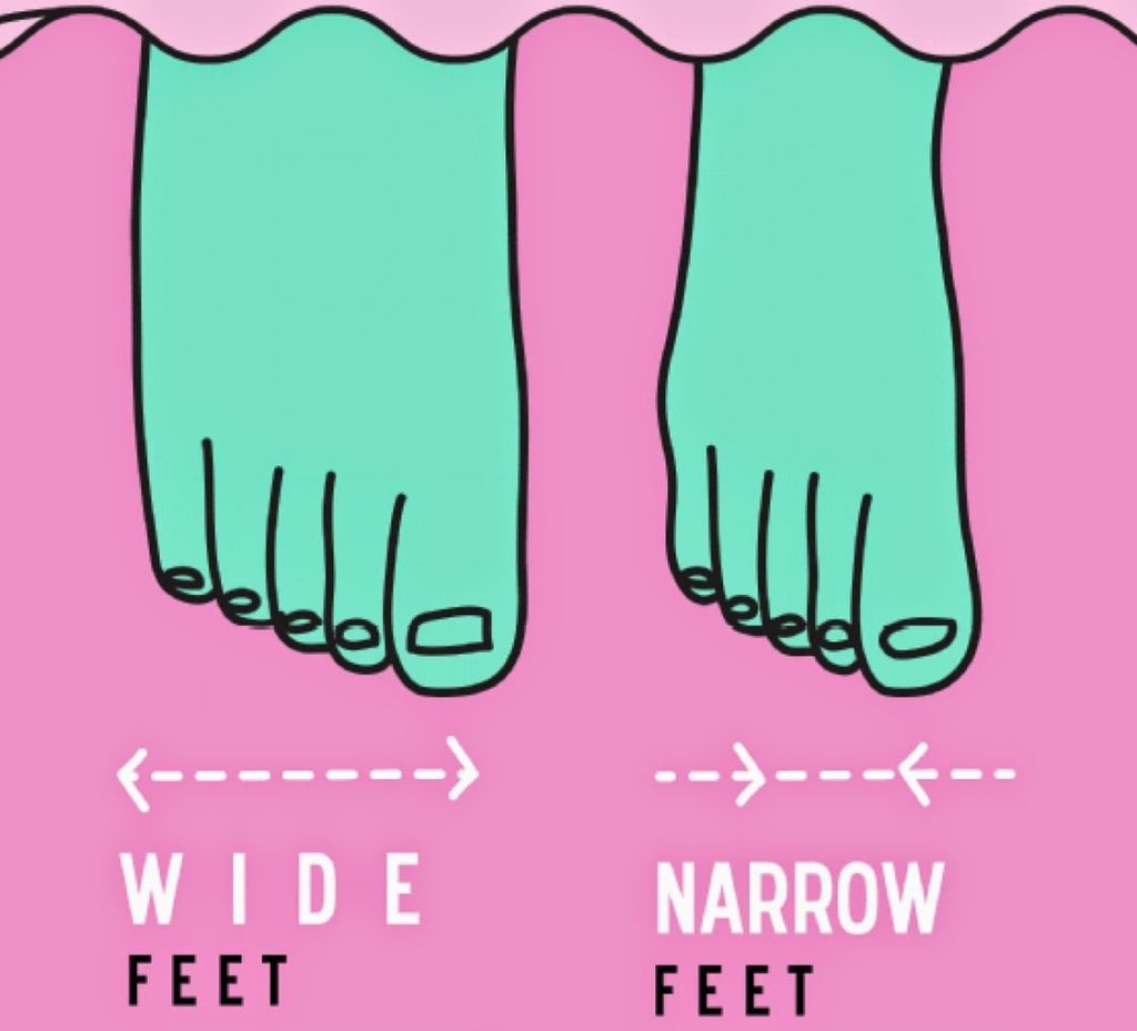 difference between wide and narrow feet